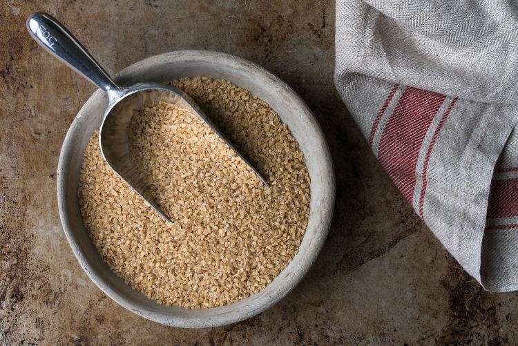 Bulgar Bulgar Food And Drink Food Wellbeing Healthy Eating Bowl Ingredient Directly Above Raw Food No People Bulk Macro Isolated Nobody Scoop