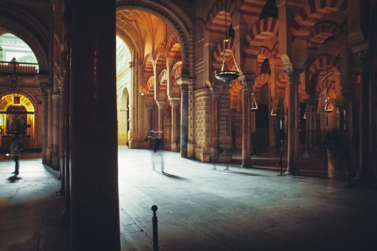 Cordoba's mosque. Ancient Architecture Red Color EyeEm Selects EyeEm Best Shots The Week On EyeEm Illuminated Light And Shadow SPAIN Wanderlust Arch Religion And Beliefs Historical Building Córdoba Mosque Adventures In The City