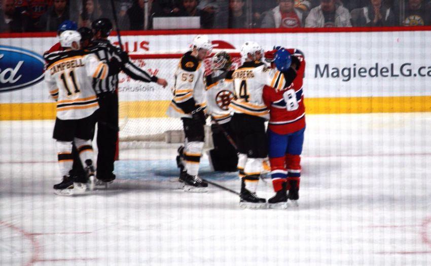 NHL Montrealcanadiens Boston Bruins Fight