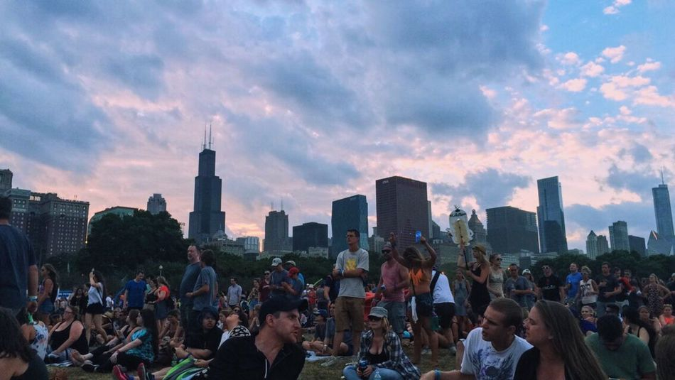 Music Brings Us Together Photography Chicago Lifestyles Concert Music Eyeemphoto Person Large Group Of People Enjoyment Youth Culture Togetherness Fun Event Crowd Architecture City Cityscapes Outdoors Festival Music Festival Photo