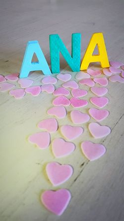 Nombre 3D Ana Name Soft Colors  Nombre Nombres Pink Rosa Corazones Heart
