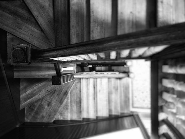 Stairs Blackandwhite Blur Leading Down Look Down Snapseed OPPO Oppocamera Oneplusone Steps Monochrome Photography