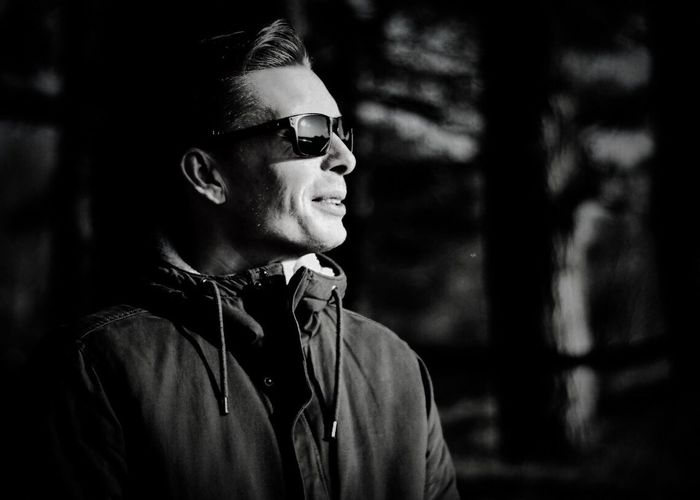 Hello World Check This Out Its Me Blackandwhite Photography Blackandwhite Portrait Focus On Foreground One Man Only Headshot Sunglasses Outdoors Close-up EyeEm Gallery EyeEmBestPics Eye4photography  EyeEm Best Shots SundayFunday EyeEm Best Edits What Do You Think?