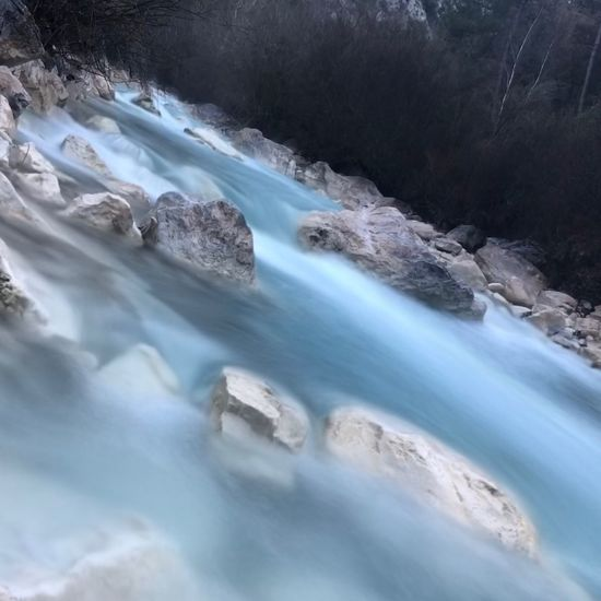 Beauty In Nature Water Scenics - Nature Nature No People Long Exposure Environment Rock - Object Rock Day River Solid Cold Temperature Tranquil Scene Motion Flowing Water Land Non-urban Scene Outdoors