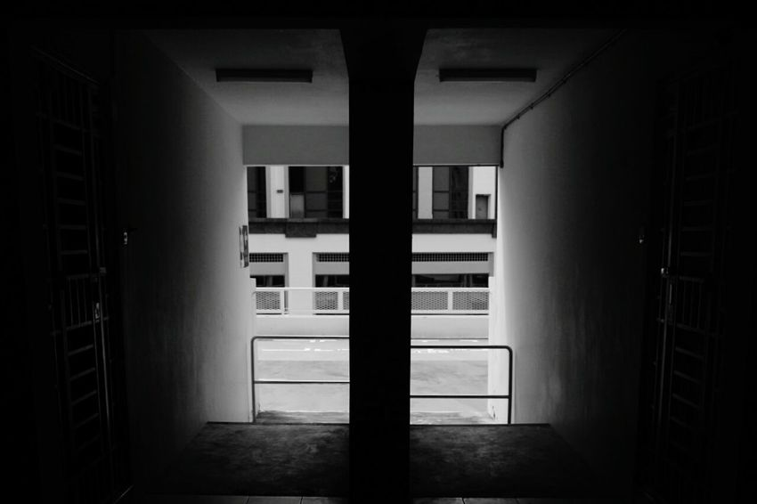 Indoors  No People Window Architecture Day Blackandwhite Blackandwhitephotography Black&white