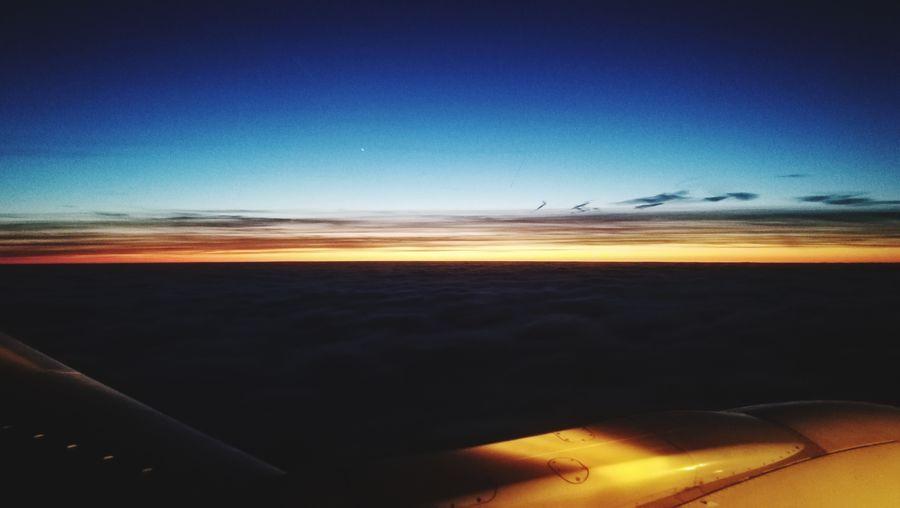Flight ✈ Sunset_collection Sunset InFlightPhoto Astronomy Sea Sunset Beach Sand Sky Horizon Over Water Landscape EyeEmNewHere