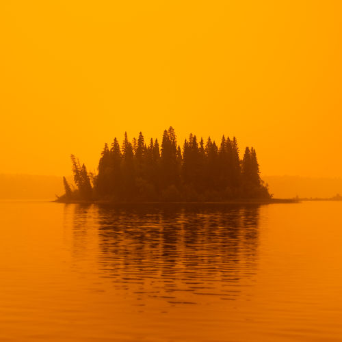 Eerie light late yesterday afternoon at Ness Lake. Some super dense smoke came over at about 6pm, and for a time the whole world glowed orange. The light lasted like this for about 45 minutes then when back to the gray smokey haze that we have been accustomed too over this past couple of weeks. I have made minimal edits to this shot and have not changed the hue or applied any colour cast or filter. No end in sight for the wildfire season here in BC. Here is hoping for some rain. Northern British Columbia, Canada Love Life, Love Photography Apocalyptic Sky Orange Sky Smoke Wildfire Smoke Beauty In Nature Blood Orange Sky Canada Lake Nature Ness Lake No People Non-urban Scene Northern British Columbia Orange Color Outdoors Reflection Scenics - Nature Silhouette Sky Smokey Sky Still Water Sunset Tranquility Water Wildfires