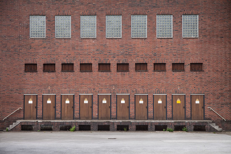 Welche Tür? Doors Architecture Brick Brick Wall Building Building Exterior Built Structure City Day Door Illuminated Industry Low Angle View No People Old Outdoors Street Travel Destinations Wall Window