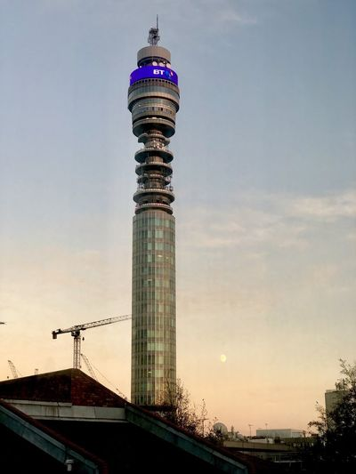 BT Tower London BT Tower London Architecture Built Structure Sky Building Exterior Tower Sunset Tall - High Building City Nature Cloud - Sky Office Building Exterior No People Travel Destinations Travel Outdoors Tourism Skyscraper Low Angle View Spire  Global Communications