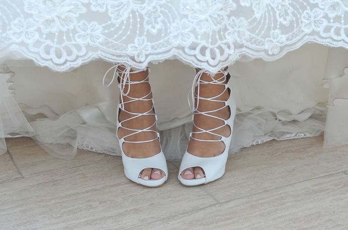 Shoe Pattern Close-up Human Body Part Standing Wedding Ceremony People Bride Adult One Person Feet Low Section Wedding Shoes Weddingshoes Wedding Day Wedding Photography Wedding Laces Shoes Of The Day Shoelaces Shoe Shoes White White Color Be. Ready.