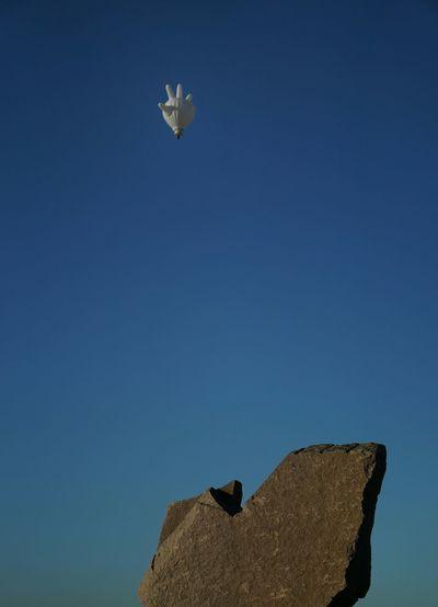 Balloon Sky Rock Highfive