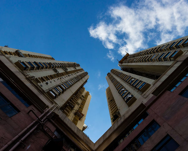 Architecture Building Exterior Built Structure City Day Looking Up Low Angle View No People Outdoors Sky Symmetrical Symmetry The Way Up To The Sky Travel Destinations