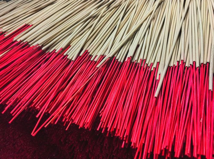 High angle view of incenses for sale in market