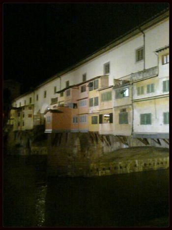 Firenze Pontevecchio Florence Italy City By Night