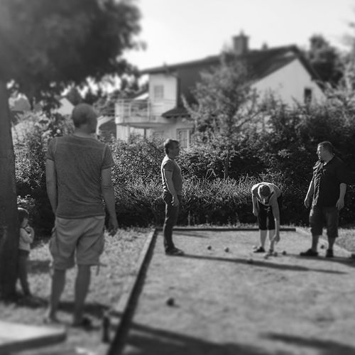 Let' play boule.... People Standing Men Adult Outdoors Adults Only Tree Light And Shadow EyeEm Bnw EyeEm Best Shots - Black + White EyeEm Gallery EyeEm Friends Chillaxing b Boule Real People Happiness Black And White Photography Lights And Shadows Close-up Grilling Season Blackandwhite Photography Blackandwhite Grilling And Chilling Picknick Time