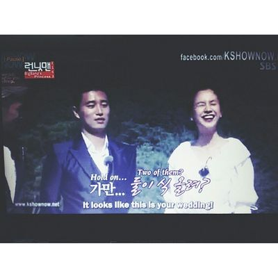 Hahahaha! Yes looks quite real! Runningman 163 Songjihyo KangGary marriage love @gaegun