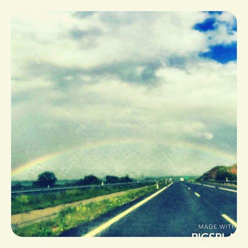 El camino a Madrid para ver el arco iris😄