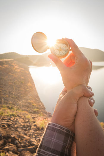 love nature Beauty In Nature Close-up Day Holding Human Hand Landscape Lifestyles Men Mountain Nature One Person Outdoors People Real People Scenics Sky Sunlight Sunset Water Women Young Adult Young Women