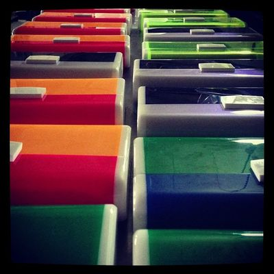 Can you see the rainbow colors?! ? Uraniagazelli spring/summer 13 collection Plexiglass Perspex Lucite clutch bags minaudiere bag night oscars goldenglobes russiah paris milan london rainbow colors for the season spring summer 2013 ss13 green blue orange red neon coral yellw cobalt white