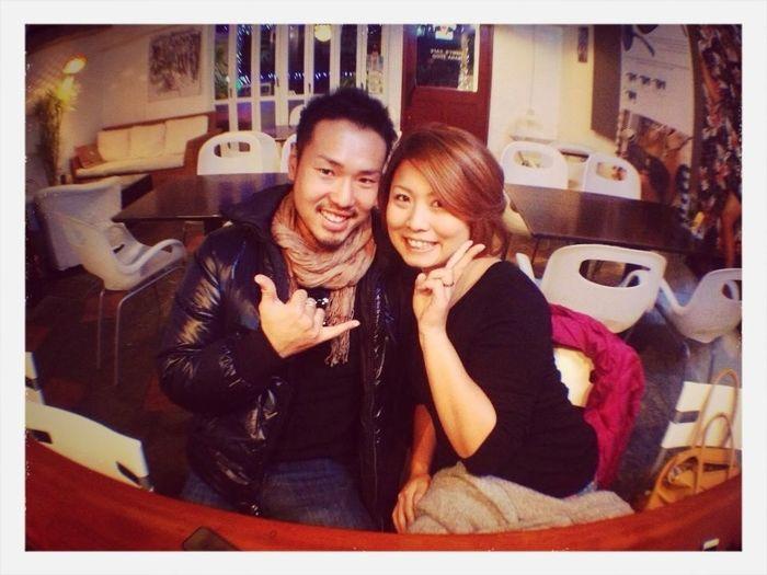2013.1.16. 私の誕生日にTimmy's Cafeで食事w この写真もTimmyさんが撮ってくれた思い出の一枚♡大切な人と楽しく過ごせた꒰ ૢ●௰ ૢ●✩꒱ Love My Birthday Date Night Timmy's Cafe