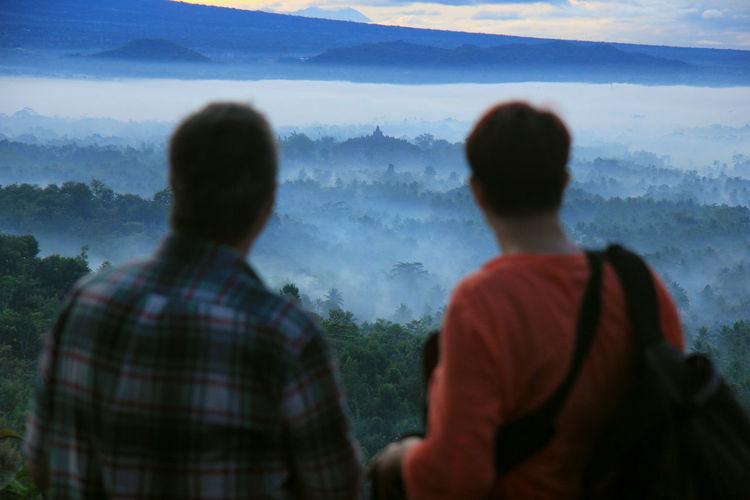 Borobudur From Punthuk Setumbu Borobudur From Setumbu Setumbu Borobudur Puncak Setumbu Borobudur Sunrise Magelang Jawa Tengah Central Java INDONESIA