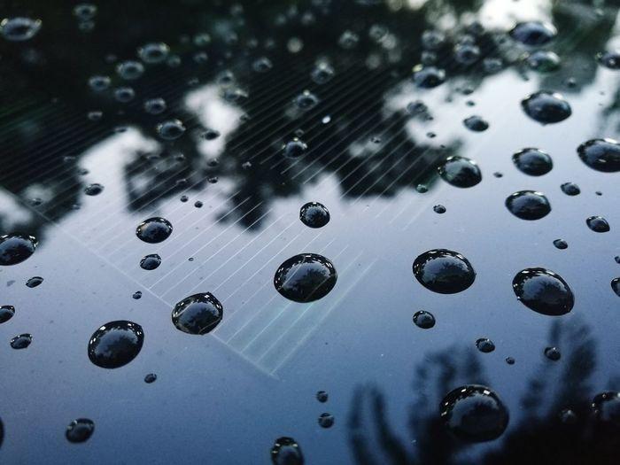 Toyota Prius Water Roof Car Solar Panel Solar Energy Full Frame RainDrop Rainy Season Water Drop Glass Rain Rainfall Droplet
