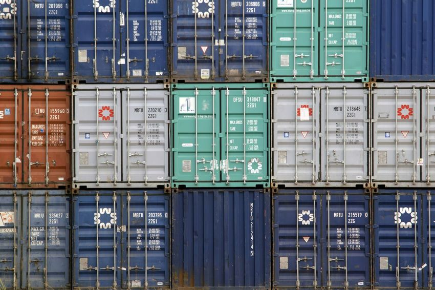 Industry Metal Full Frame Cargo Container Day Freight Transportation No People Outdoors Close-up Colors Cargo Containers Container Technology Architecture Building Exterior Factory Built Structure Business Finance And Industry Industry Pattern Textured