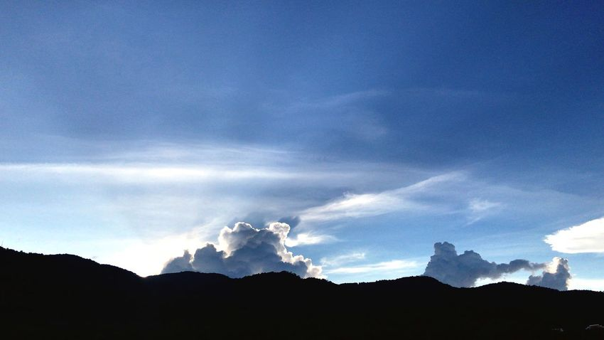 Sky Cloud - Sky Silhouette Mountain Beauty In Nature Scenics - Nature Low Angle View No People Environment Landscape Mountain Range