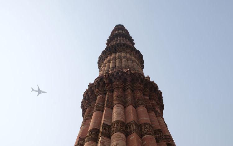 Qutub Minar Tower, Delhi, India ASIA India Indian Islam New Delhi Qutb QutubMinar Ancient Architecture Carving Column Heritage Landmark Minaret Monument Mosque Mughal Muslim Ornate Pattern Pillar Religion Ruin Sandstone Temple