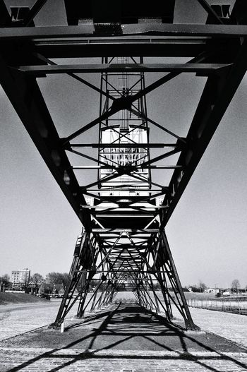 Crane Gantry Rails Silhouette Industrial Architecture Heritage Geometry Black & White in Helmond Noord Brabant Hidden Gems  The City Light