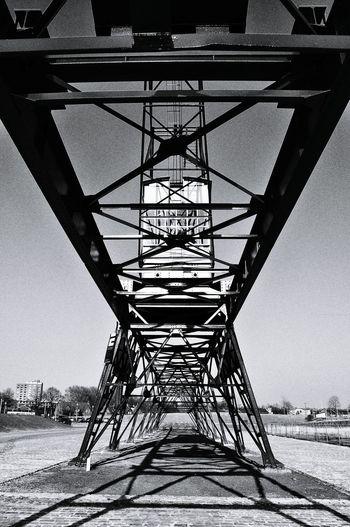 Crane Gantry Rails Silhouette Industrial Architecture Heritage Geometry Black & White in Helmond Noord Brabant Hidden Gems  The City Light
