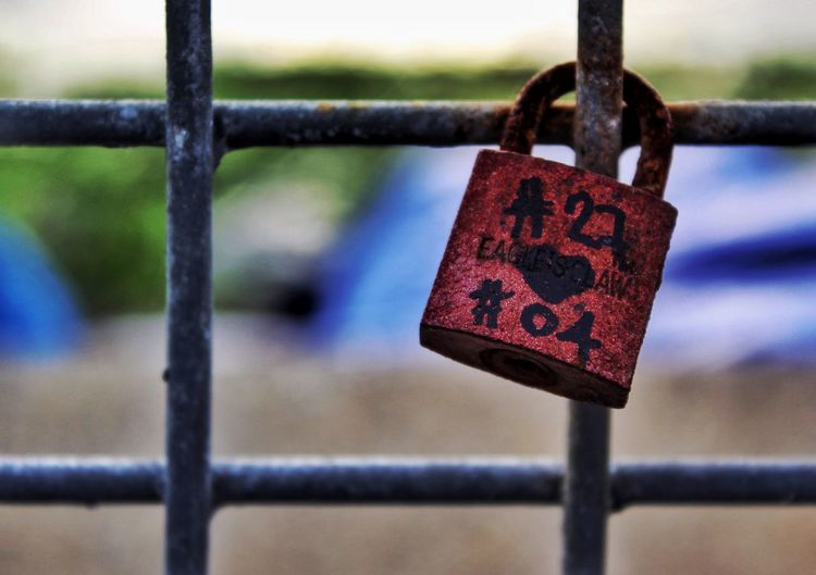 Hashtags Love Locks Bridge Love Locks EyeEm Best Shots EyeEm Selects EyeEm Gallery EyeEm Eyeem Philippines Love Pad Lock Love Lock Hanging Red Lock Love Padlock Protection Safety Railing Chainlink Fence Fence Rusty Safe Hope Luck Link Wire Mesh Security
