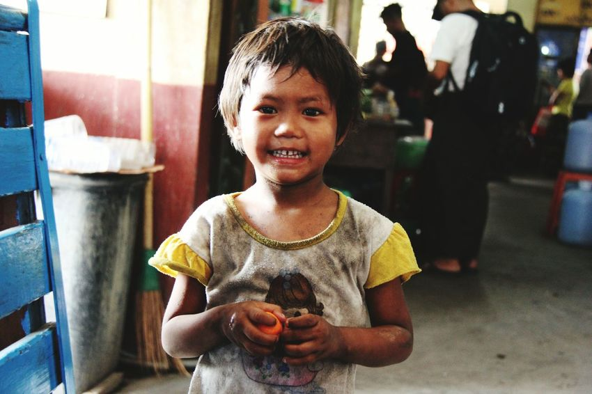 Child Childhood One Person Front View Children Only Looking At Camera Smiling Portrait People One Boy Only Domestic Life Males  Lifestyles Boys Day Real People Indoors  Happiness Cheerful Close-up Yangon, Myanmar Myanmar Culture Travel Destinations