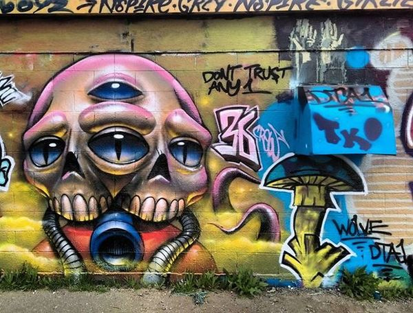Graffiti Graffhunter Graffitiporn Denvergraffiti Streetart Denverstreetart Mpek36 Wheatpaste Pasteup Kokobayer Herbertbayer