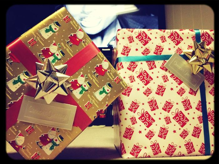 Harder to wrap then you think. Boxes in side of boxes! Just to annoy my uncle and aunty!