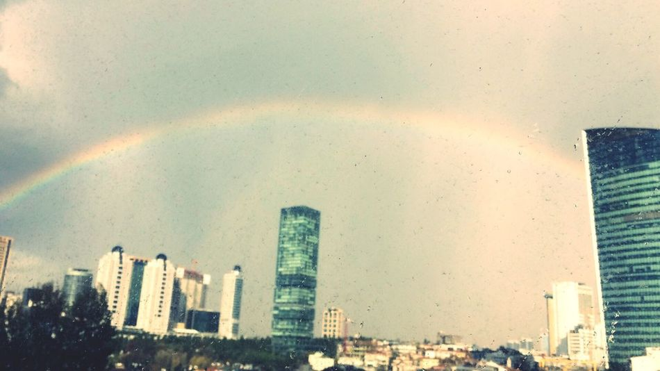 Rainbows city Cityscape