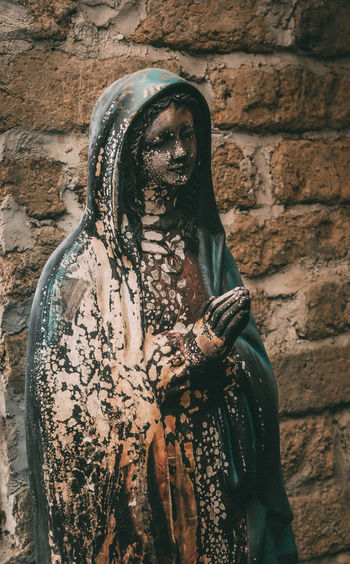 Adult Adults Only Close-up Day Front View Horror One Man Only One Person Outdoors People Petitions Spooky Virgin Mary Burnt Offerings Virgin Mary Statue Religious Icon