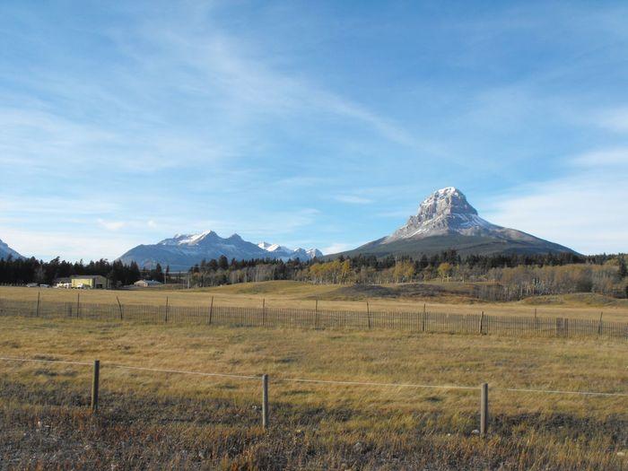Alberta Crowsnest Pass Feild Rocky Sunny Highway Landscape Mountain