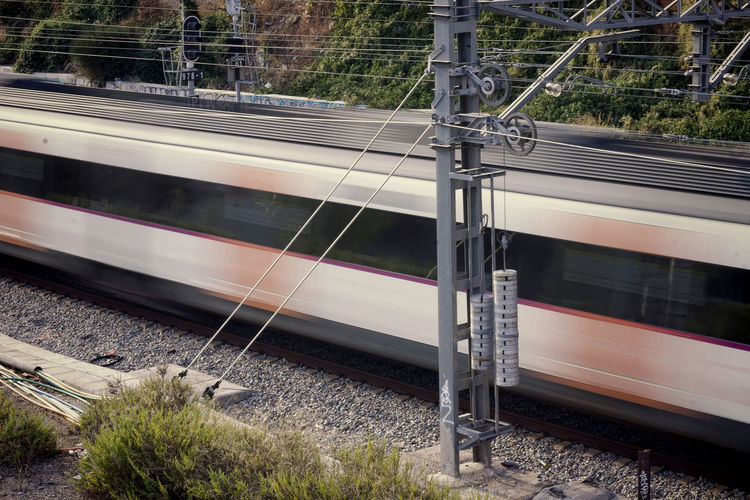 Blurred Motion Of Moving Train