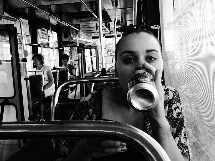 Taking Photos Black & White Monochrome Friend Tram Goodtime