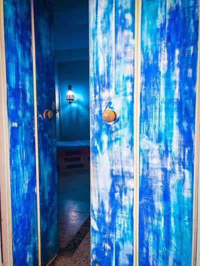 Door No People Blue Architecture Built Structure Indoors  Day