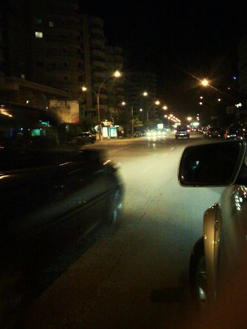 On The Road Vlore Albania Night Illuminated Car Transportation Street City Architecture Land Vehicle Building Exterior No People Outdoors