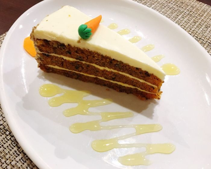 Plate Food And Drink Food Sweet Food Still Life Ready-to-eat Freshness Cake Serving Size Indulgence Dessert High Angle View No People Indoors  Close-up SLICE Temptation Day Restaurant Menu Carrotcake Carrot Menu Food And Drink Cakes Cake Cake Cake Cake