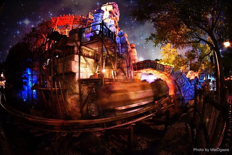 Tokyodisneysea Japan Tokyodisneysea Tokyodisneyresort Tokyo Night Galaxy LostRiverDelta