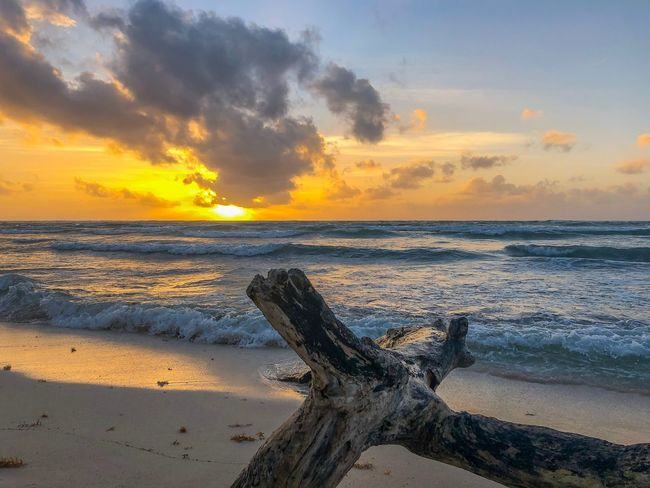 Sunrise Sky Beach Sea Water Sunset Scenics - Nature Land