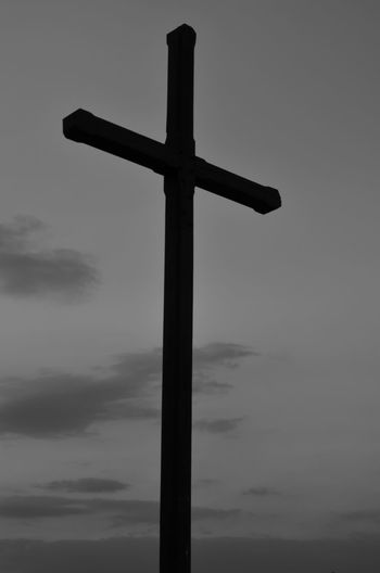 Black & White Black And White Blackandwhite Cross Day Hope No People Outdoors Redemption Sky