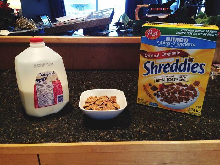 Breakfast of champions! Cereal Breakfast Champions MorningShreddies