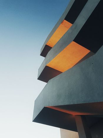Stair perspective Sky No People Business Finance And Industry Outdoors Day Architecture Contrast Urban Urbam Urbam Photograpy Urban Geometry Urbanphotography Cloud - Sky Orange Building Built Structure Buildings & Sky