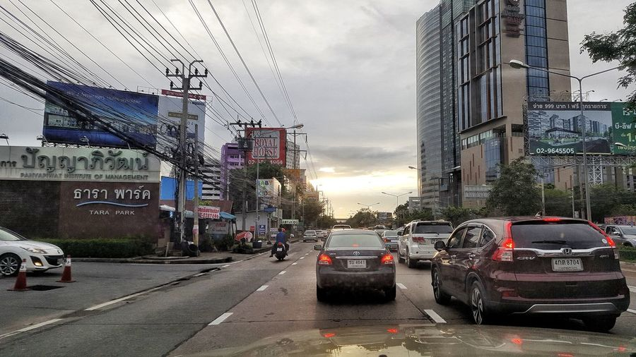 Car Land Vehicle Transportation Sky The Way Forward Mode Of Transport Street Road Cloud - Sky Architecture Built_Structure No People Outdoors Day City Water Building Exterior EyeEm Team Thailand EyeEm Beauty In Nature Let's Go. Together.