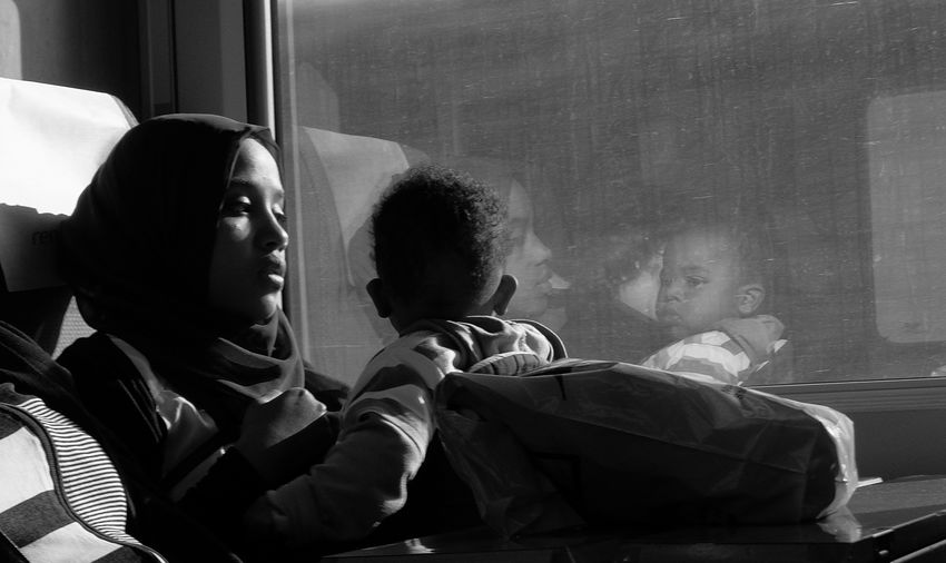 Beauty Black And White Black And White Photography Black And White Portrait Black And White Street Photography Blackandwhite Photography Culture Culture And Tradition Intimate Love Mother Mother And Son Mother Life Privacy Pure Love See See The World Through My Eyes See What I See Street Life Streetphoto_bw Streetphotography Style Life Peopleandplaces Train Window